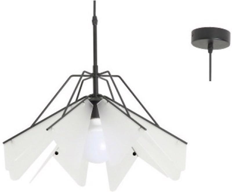 ACA Φωτιστικό Οροφής Μεταλλικό/Ακρυλικό 'Origami' Μαύρο Ε27 45Χ120cm EF39P145WH