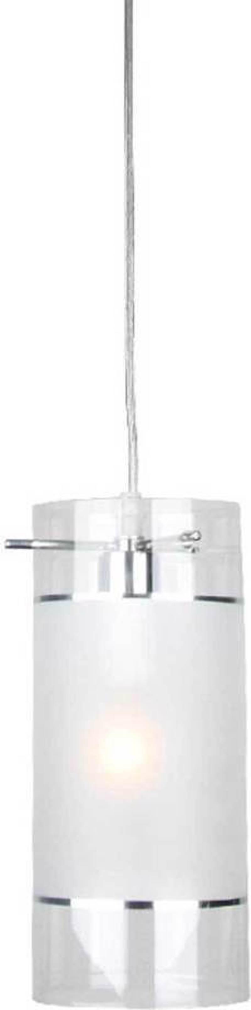 ACA Φωτιστικό Οροφής Μεταλλικό/Γυάλινο 'Mane' Χρώμιο/Διάφανο Ε14 13Χ22cm FW50671