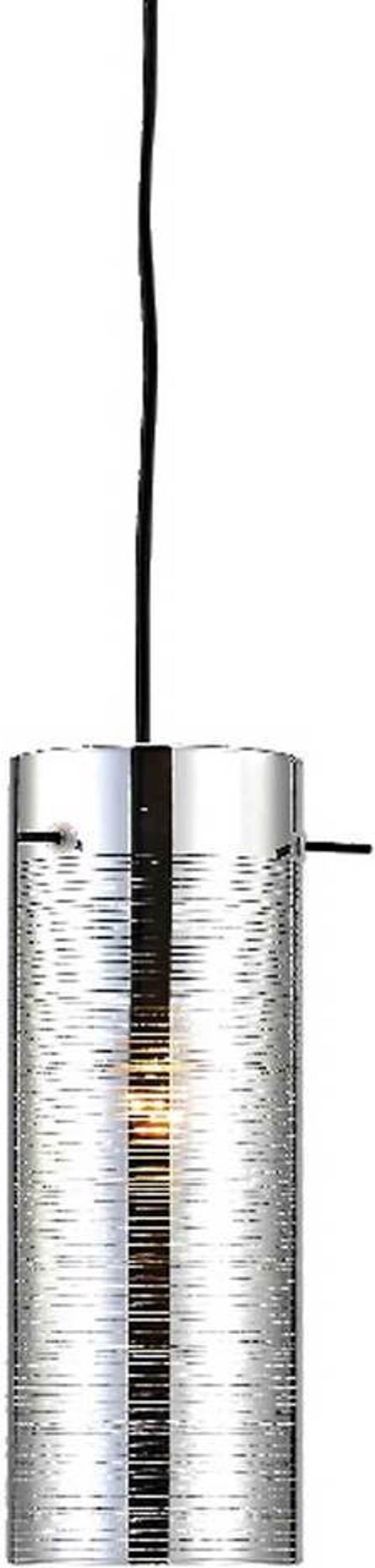 ACA Φωτιστικό Οροφής Μεταλλικό/Γυάλινο 'Vertigo' Χρώμιο Ε27 10Χ120cm DLA12591CH