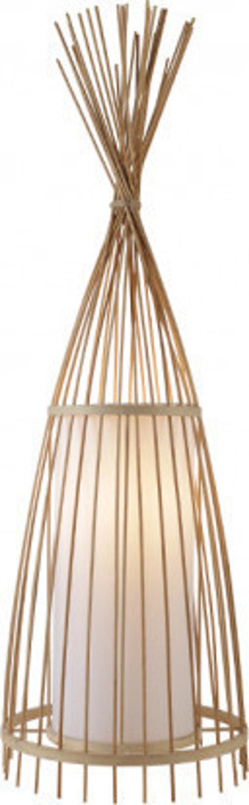 ACA Επιδαπέδιο Φωτιστικό Bamboo 'Serifos' Ε27 30Χ100cm TF661F100BO
