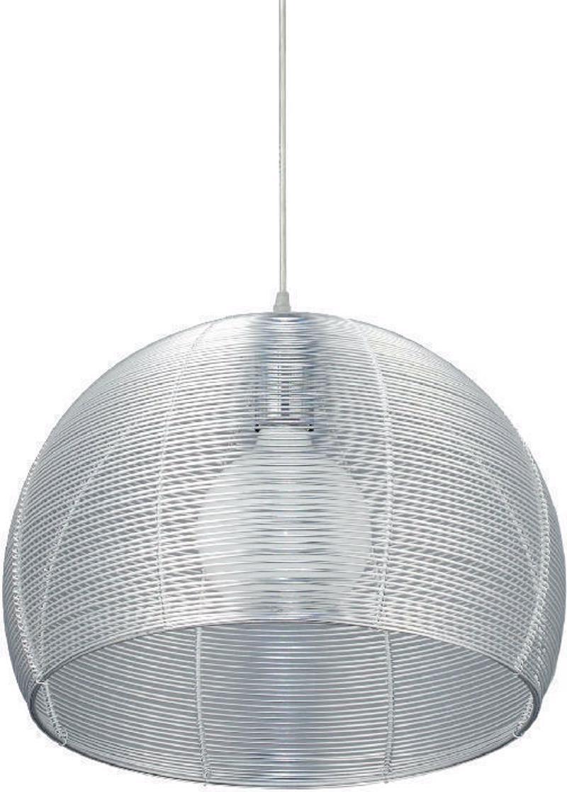 ACA Φωτστικό Οροφής Μεταλλικό 'Zinc' Ασημί Ε27 40Χ110cm V28507IP40