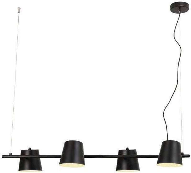 ACA 4Φωτο Φωτιστικό Οροφής Μεταλλικό 'Ayran' Μαύρο Ε14 102Χ102cm EF27P4102BK