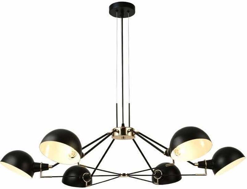 ACA 6Φωτο Φωτιστικό Οροφής Μεταλλικό 'Clotho' Μαύρο Ε14 100Χ100cm EG4346P100B