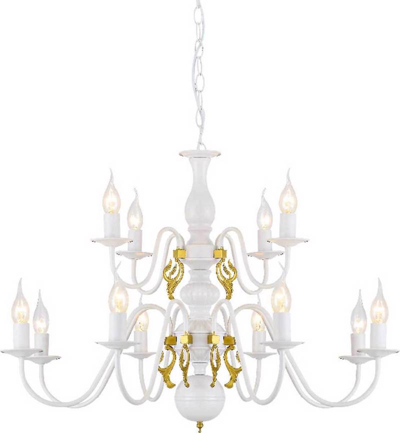 ACA 12Φωτο Φωτιστικό Οροφής Μεταλλικό 'Velvet ' Λευκό Ε14 78Χ160cm DLA120012P