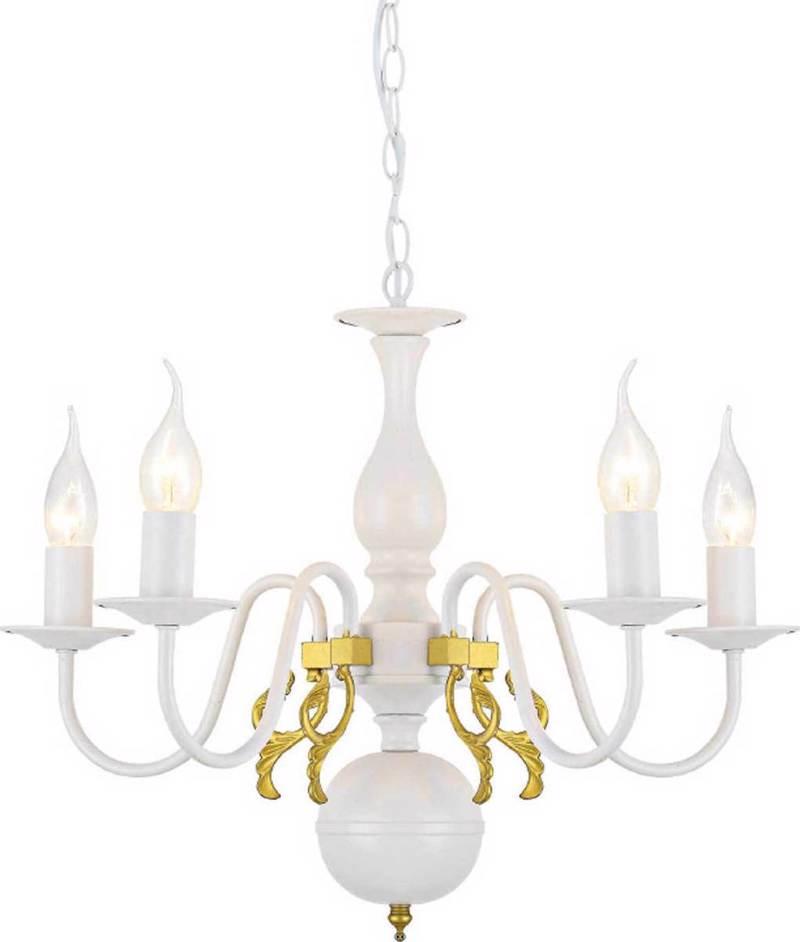 ACA 5Φωτο Φωτιστικό Οροφής Μεταλλικό 'Velvet ' Λευκό Ε14 50Χ93,5cm DLA12005P