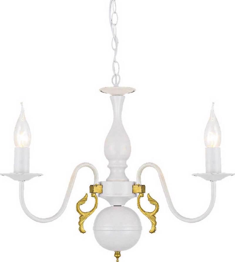 ACA 3Φωτο Φωτιστικό Οροφής Μεταλλικό 'Velvet ' Λευκό Ε14 50Χ93,5cm DLA12003P