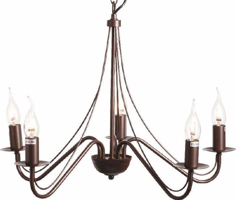 ACA Φωτιστικό Οροφής Πεντάφωτο Μεταλλικό 'PALMYRA' Καφέ Ε14 Φ52cm DLA0015