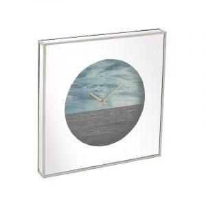 Ξύλινο ρολόι τοίχου με καθρέπτη InArt