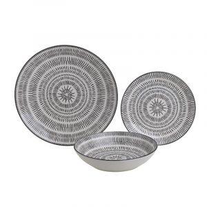 Πορσελάνινα πιάτα - σετ των 18 InArt