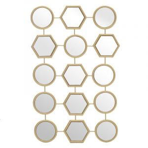 Μεταλλικός χρυσός καθρέπτης με πολλαπλά μέρη InArt