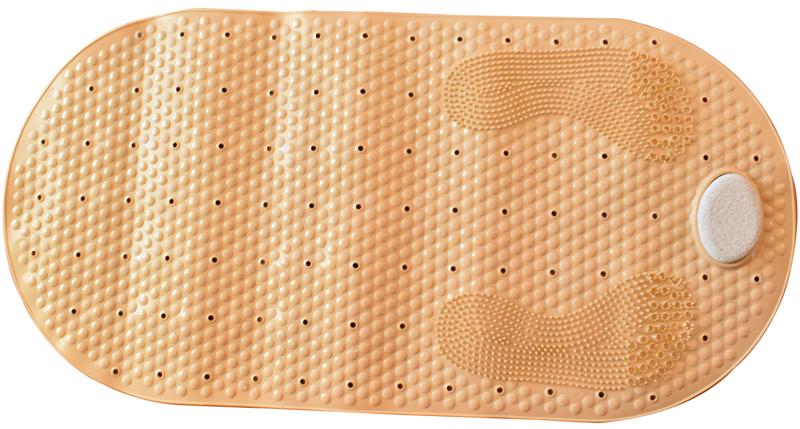 ESTIA Αντιολισθητικό Μπανιέρας Κρεμ με Ενσωματωμένη Ελαφρόπετρα 80×40ΕΚ 02-5412