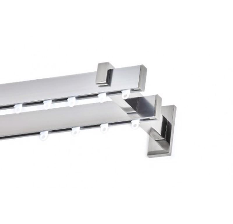 Σιδηρόδρομος flat αλουμινίου EAGLE διπλός νίκελ σατινέ