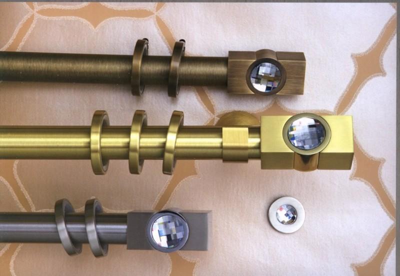 Κουρτινόξυλο Movie crystal φ30 bronze by Aslanis