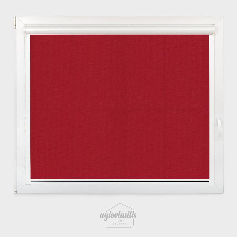 Ρόλερ 10.B(128).10 μονόχρωμο κόκκινο