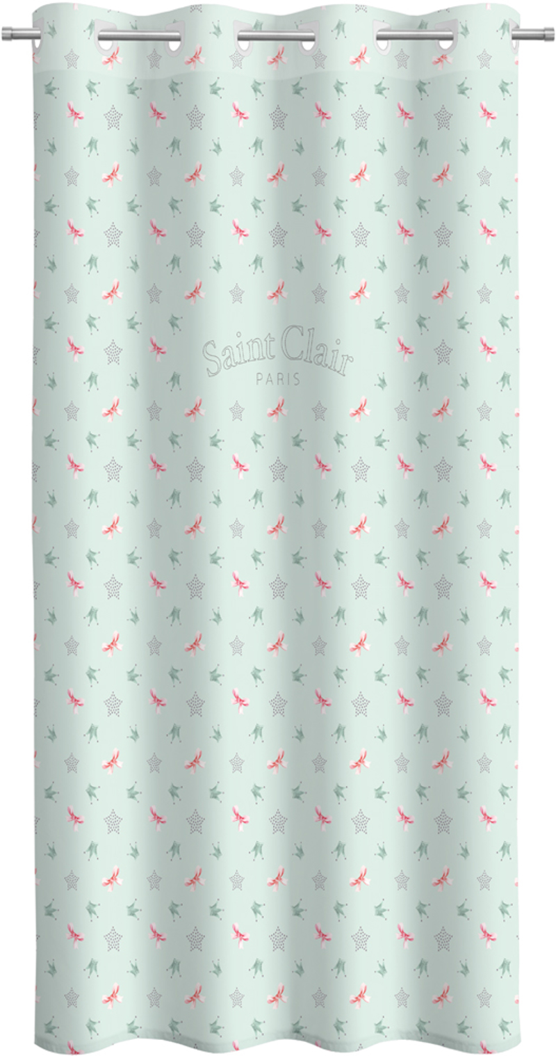 Saint Clair Κουρτίνα Soft Touch Rosie Mint V2 160×240