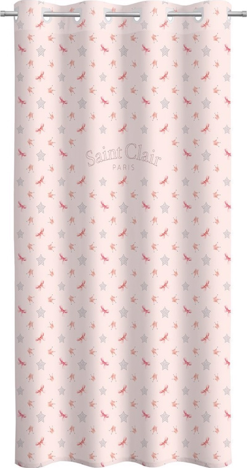 Saint Clair Κουρτίνα Soft Touch Rosie Pinky V2 160×240