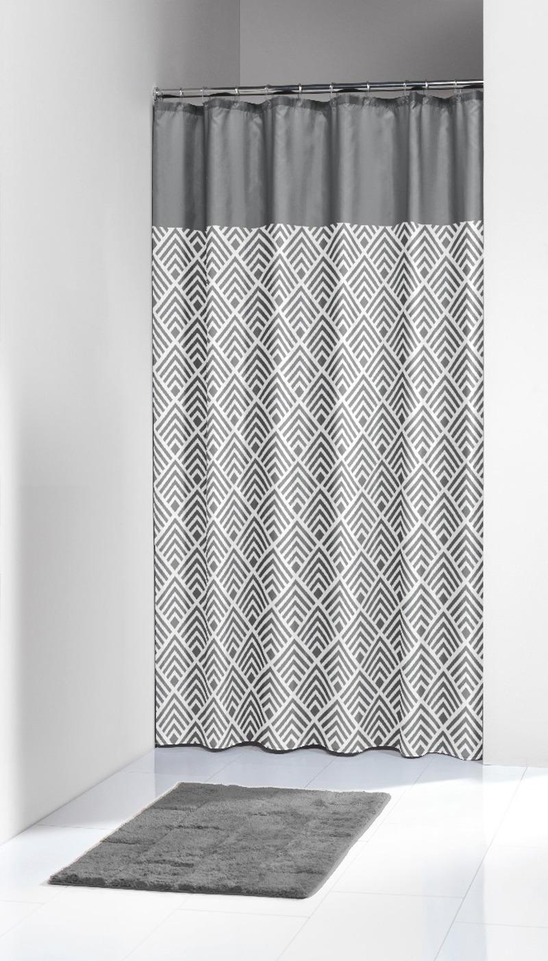 Υφασμάτινη Κουρτίνα Μπάνιου Angoli Grey 180X200SealSkin