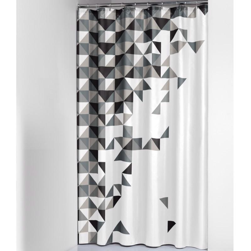 Υφασμάτινη Κουρτίνα μπάνιου Tangram Black 180Χ200 Sealskin