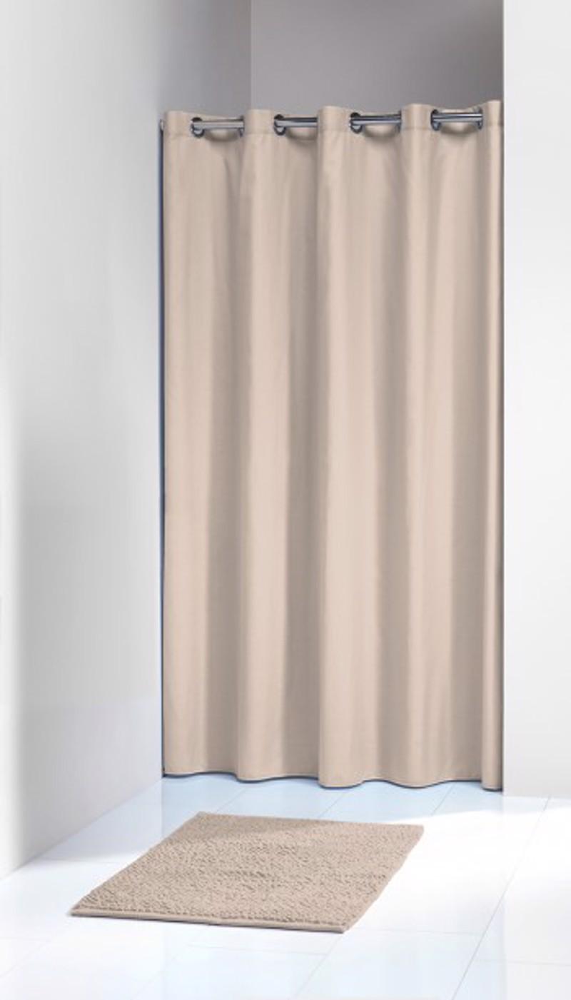 Υφασμάτινη Κουρτίνα Μπάνιο Coloris Ecru 180X200 SealSkin