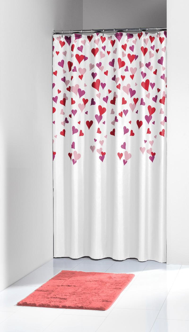Πλαστική Κουρτίνα Μπάνιου Cuori Pink 180X200 SealSkin