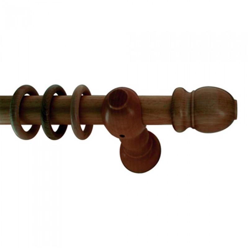 Καρυδί ξύλινο Κλασσικό φ35 κουρτινόξυλο