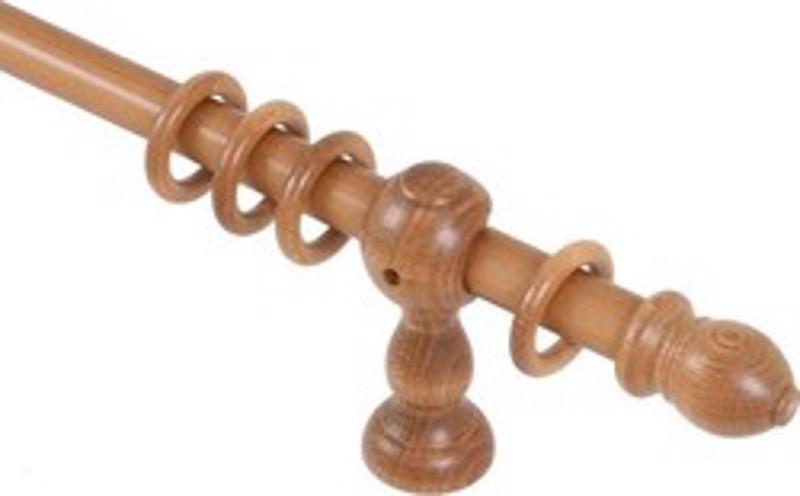 Μελί ξύλινο φ23 κλασσικό κουρτινόξυλο