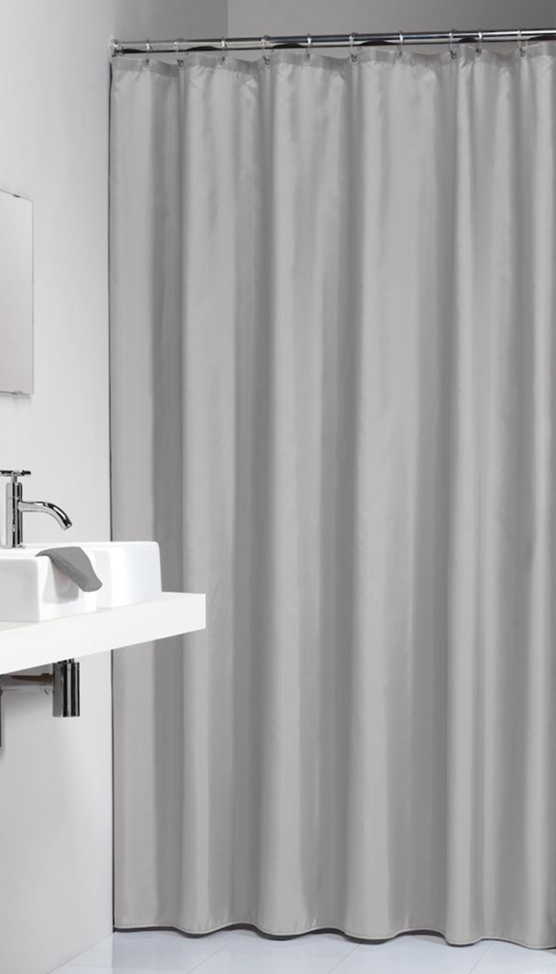 Πλαστική Κουρτίνα Μπάνιου Granada Light Grey 180Χ200 SealSkin