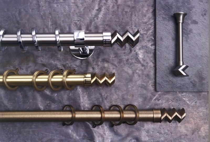 Κουρτινόξυλο Cobra φ25 χρυσό by Aslanis