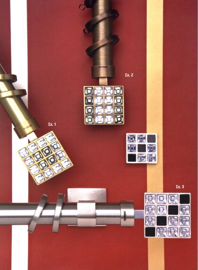 Κουρτινόξυλο Puzzle φ25 bronze by Aslanis