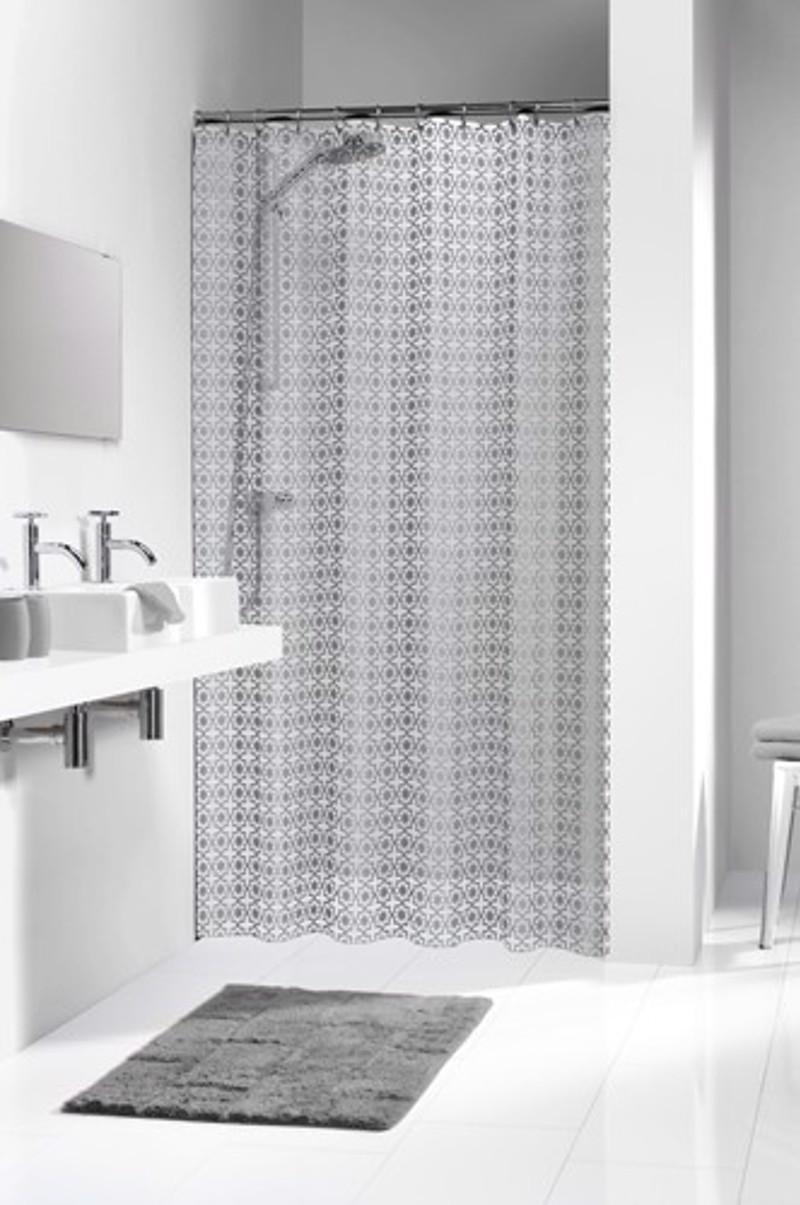 Πλαστική Κουρτίνα μπάνιου sealskin Hammam silver 1.80×200