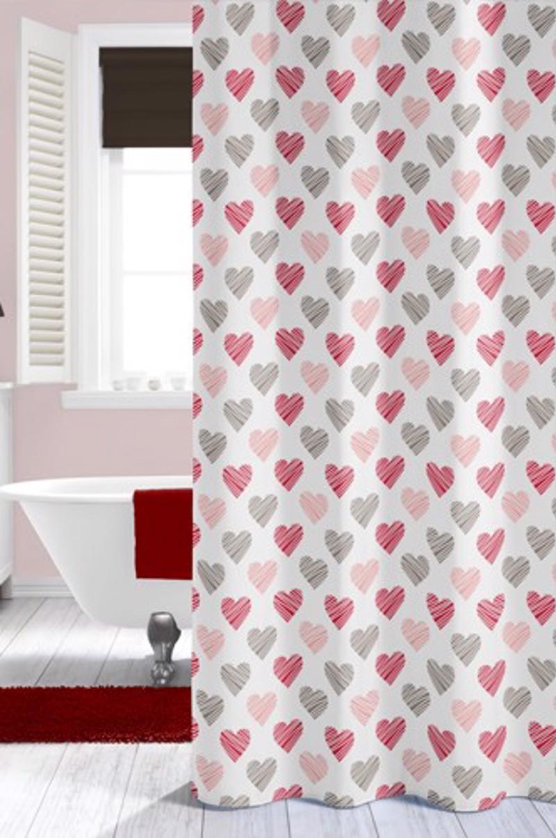 Υφασμάτινη Κουρτίνα μπάνιου sealskin Amor multi color 1.80×2.00