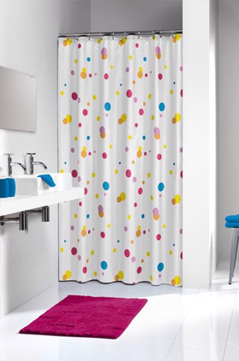 Υφασμάτινη Κουρτίνα μπάνιου sealskin Dots multi colour 1.80×2.00