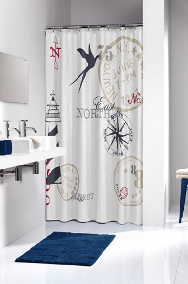 Υφασμάτινη Κουρτίνα μπάνιου sealskin Faro dark blue 1.80×2.00