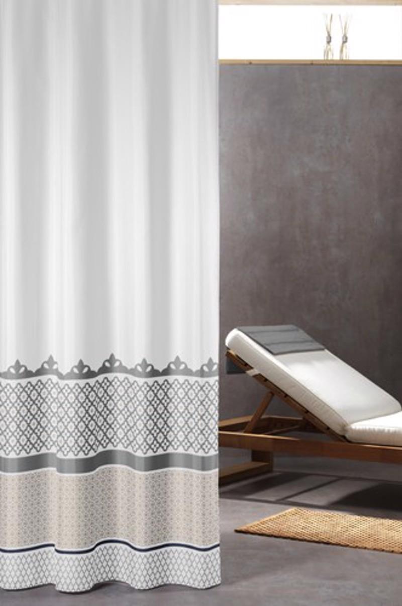 Υφασμάτινη Κουρτίνα μπάνιου sealskin Marrakech silver 1.80×2.00