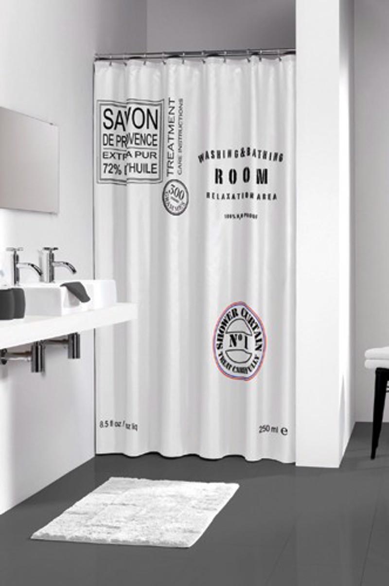 Υφασμάτινη Κουρτίνα μπάνιου sealskin Savon de Provence white 1.80×2.00