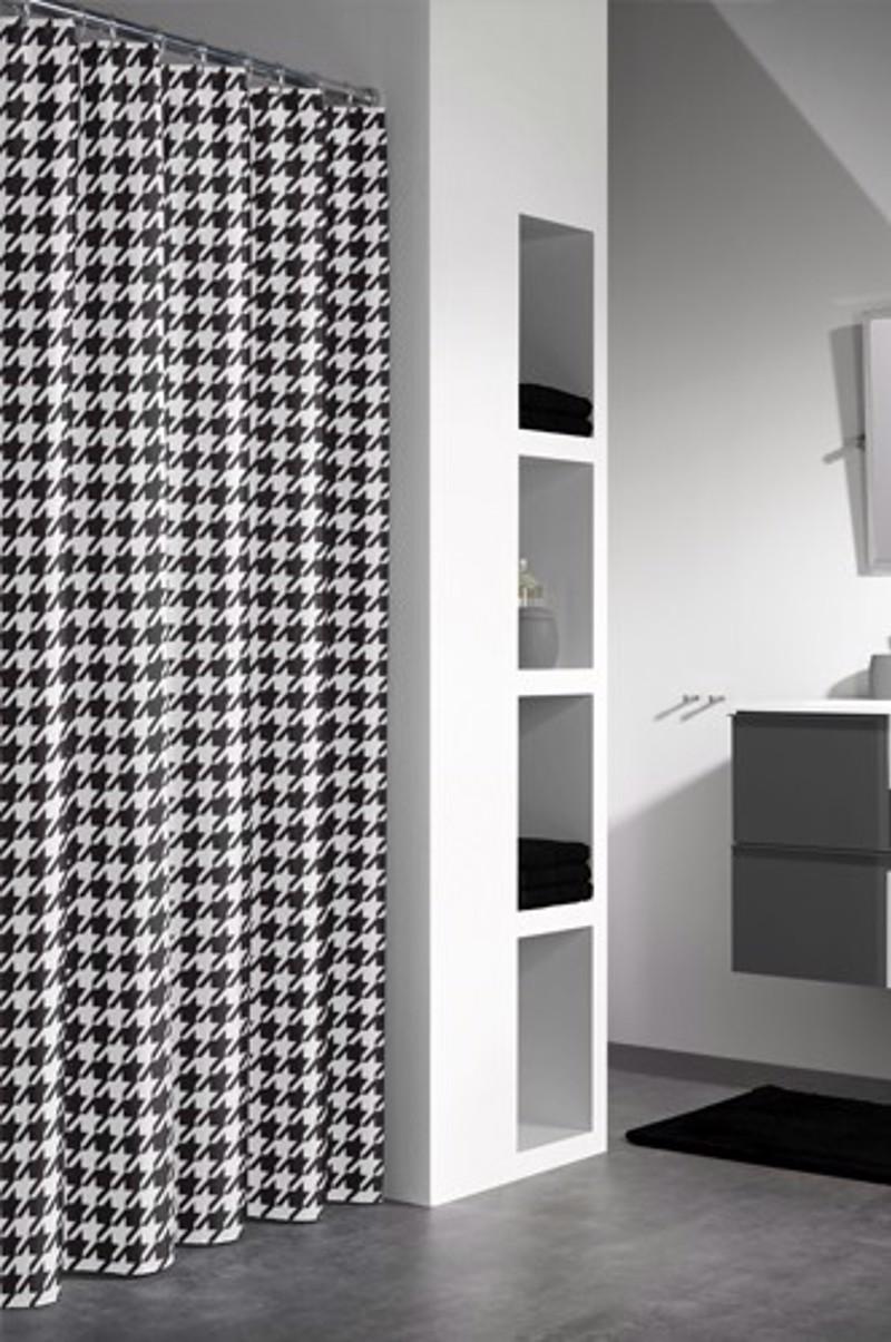 Υφασμάτινη Κουρτίνα μπάνιου sealskin Seamless black 1.80×2.00