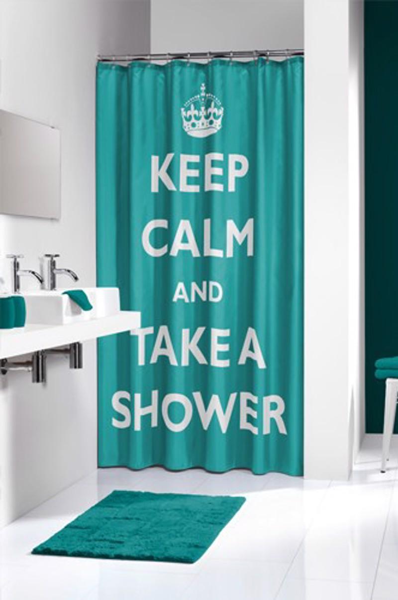 Υφασμάτινη Κουρτίνα μπάνιου sealskin Testo aqua 1.80×2.00