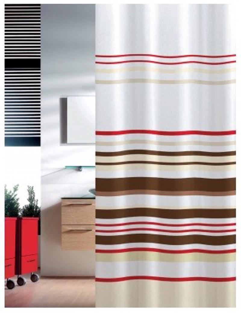 Υφασμάτινη Κουρτίνα Μπάνιου Joy 0007 Stripes Μπεζ