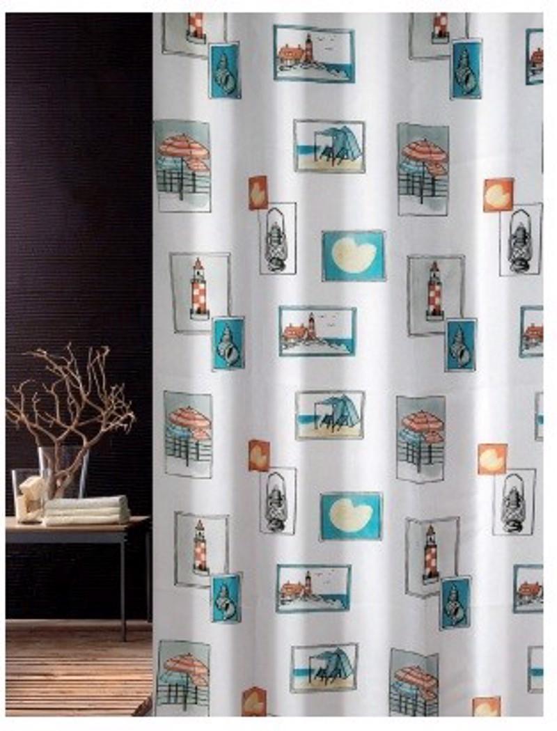 Υφασμάτινη Κουρτίνα Μπάνιου Joy 0008 Seaside Multi