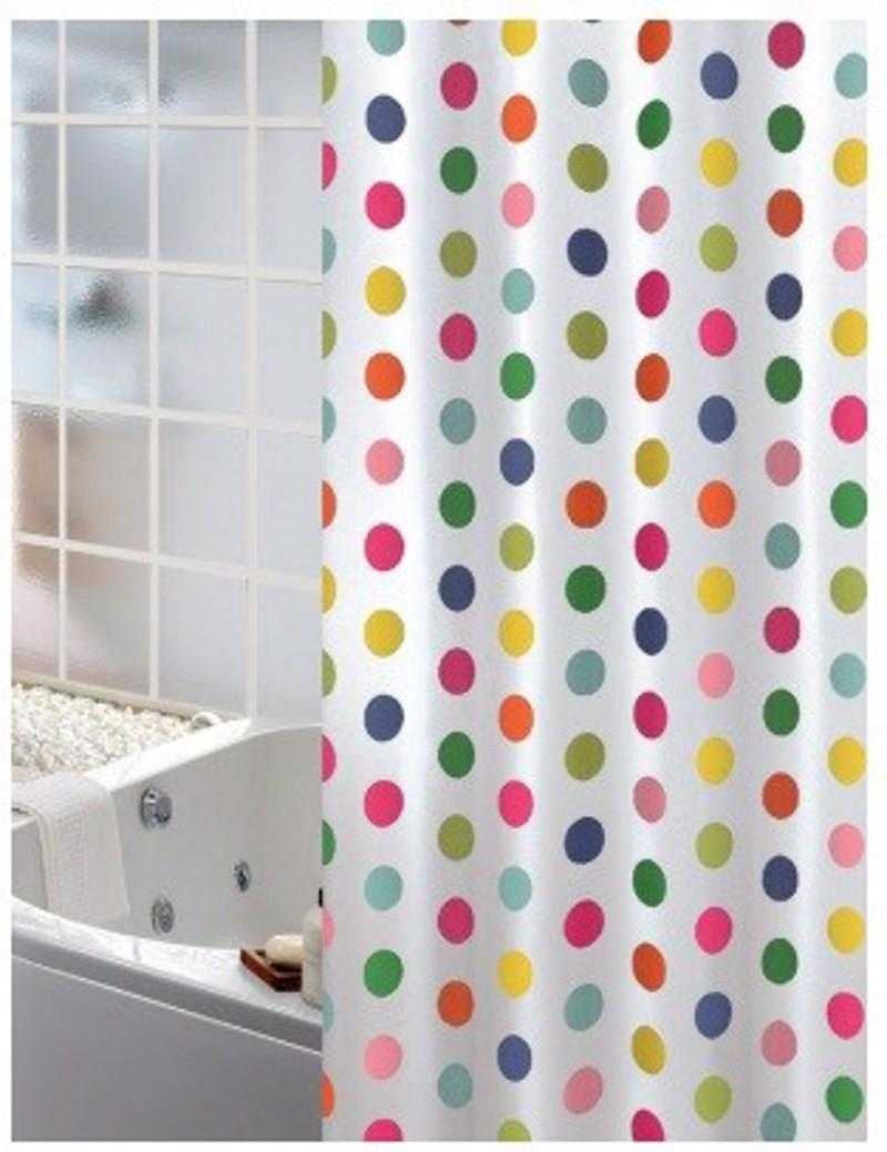 Υφασμάτινη Κουρτίνα Μπάνιου Joy 0016 Dots Multi 1.80×2.00