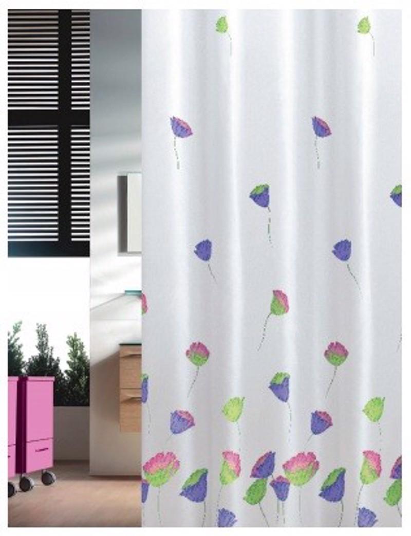 Υφασμάτινη Κουρτίνα Μπάνιου Joy 0019 Tulips Multi 1.80×2.00