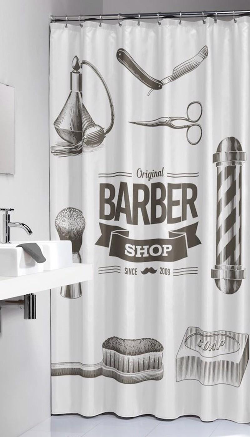 Υφασμάτινη Κουρτίνα Μπάνιου sealskin Barber Black 1.80×2.00