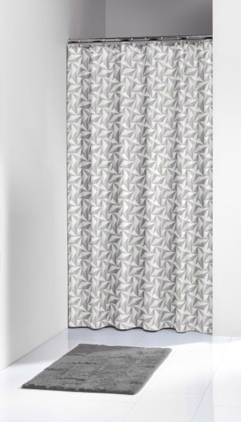 Υφασμάτινη Κουρτίνα Μπάνιου Piega Grey 1.80×2.00