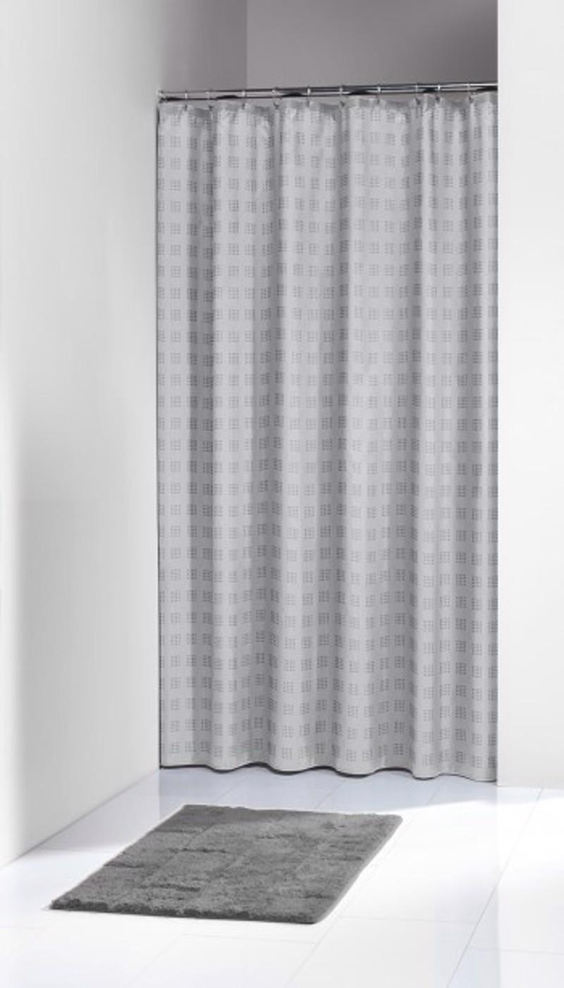 Υφασμάτινη Κουρτίνα Μπάνιου Quadretta Grey 1.80×2.00