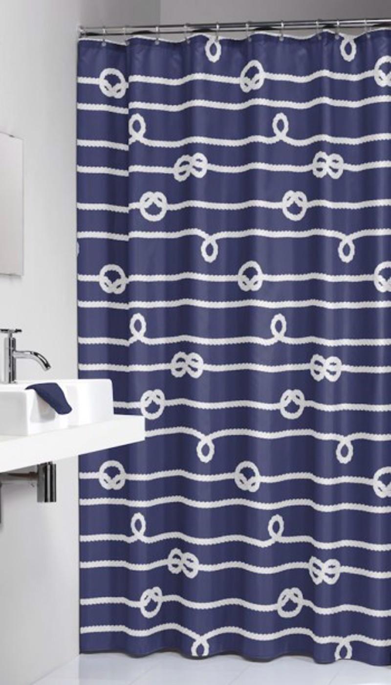 Υφασμάτινη Κουρτίνα Μπάνιου Rope Blue 1.80×2.00