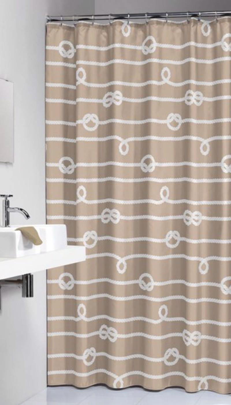 Υφασμάτινη Κουρτίνα Μπάνιου sealskin Rope Sand 1.80×2.00