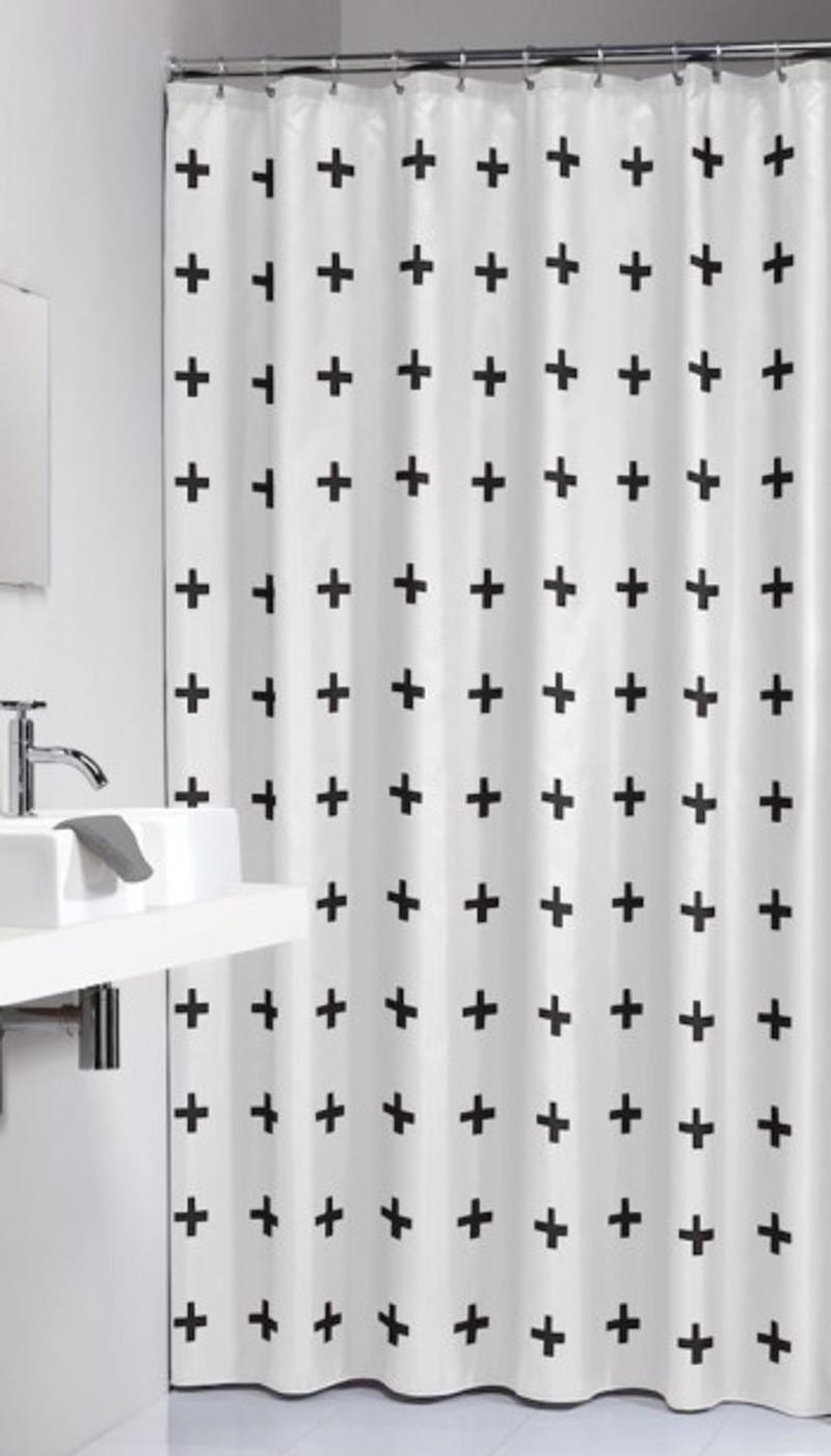 Υφασμάτινη Κουρτίνα Μπάνιου sealskin Signes Black 1.80×2.00
