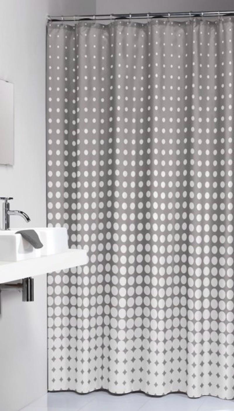 Υφασμάτινη Κουρτίνα Μπάνιου sealskin Speckles Grey 1.80×2.00