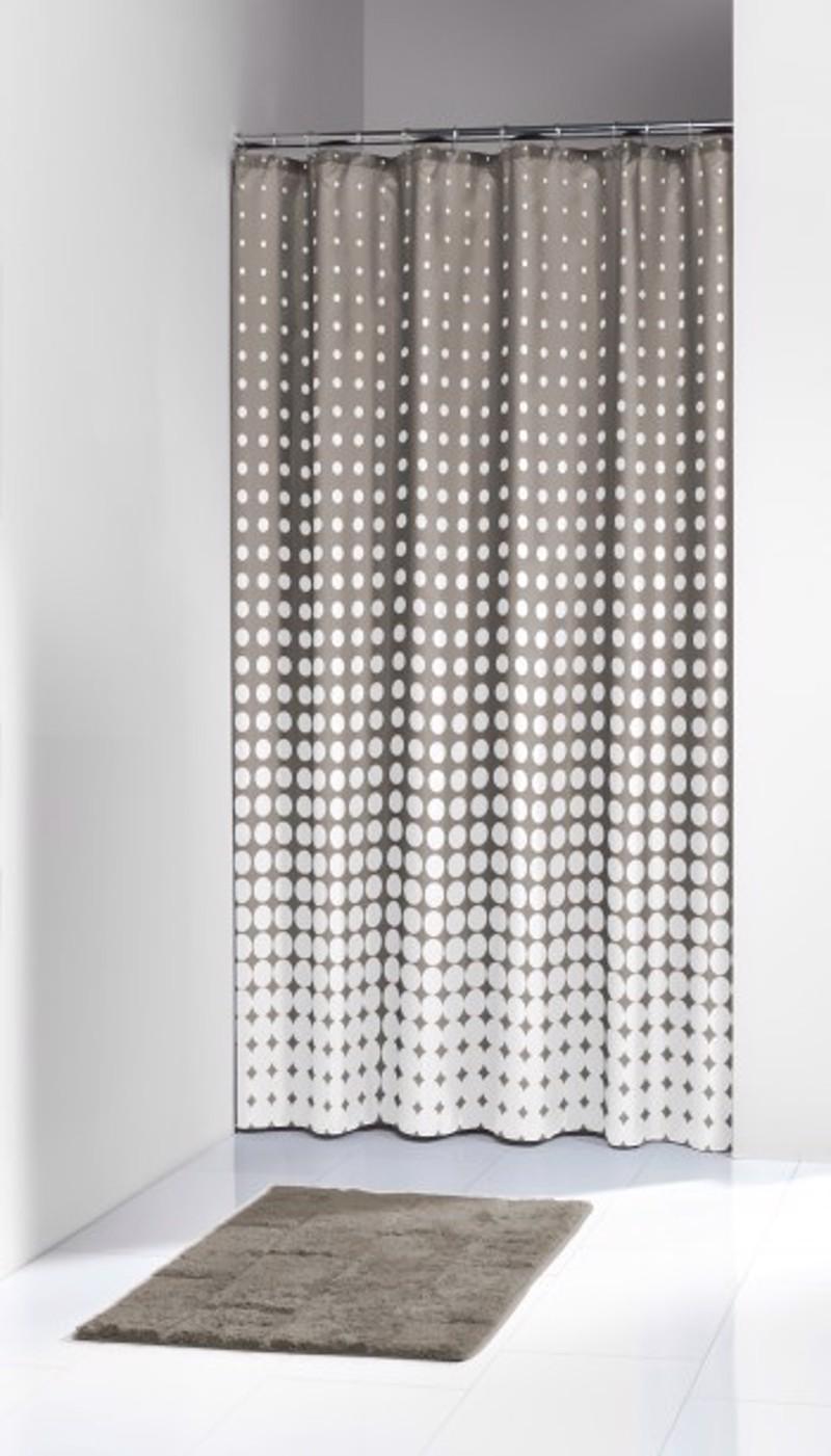 Υφασμάτινη Κουρτίνα Μπάνιου sealskin Speckles Taupe 1.80×2.00