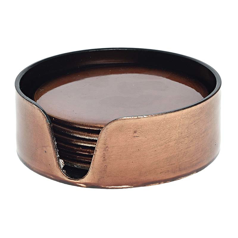 Σουβέρ πλαστικό σετ 6 τεμ καφε 3-70-019-0124 inart